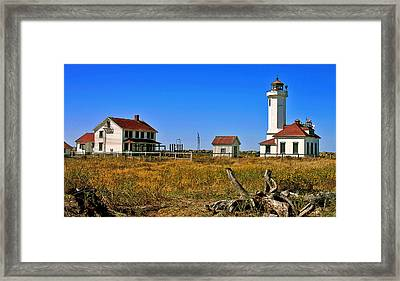 Framed Print featuring the painting Port Townsend by Larry Darnell
