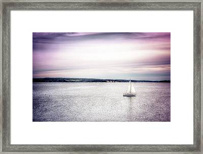 Port Townsend Sailboat Framed Print by Spencer McDonald