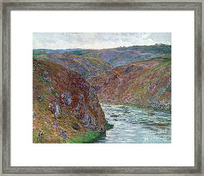 Port-valley Of The Creuse Framed Print by Claude Monet