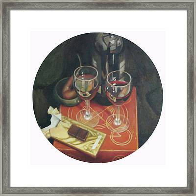 Port  Wine And Chocolate Framed Print by Mark Manning