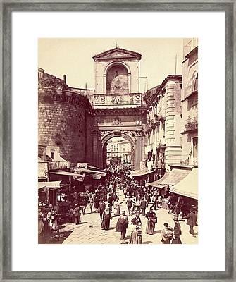 Porta Capuana, Napoli, Italy C. 1880 - 1895 Framed Print