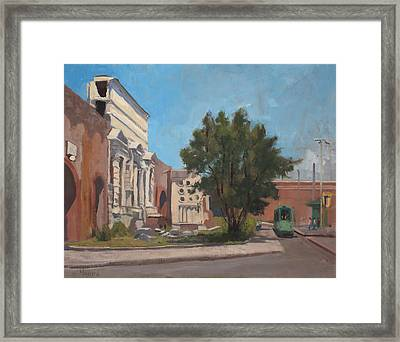 Porta Maggiore Rome Framed Print by Kelly Medford