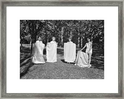 Portable Bath Houses Framed Print