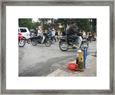 Portable Gas Station Framed Print