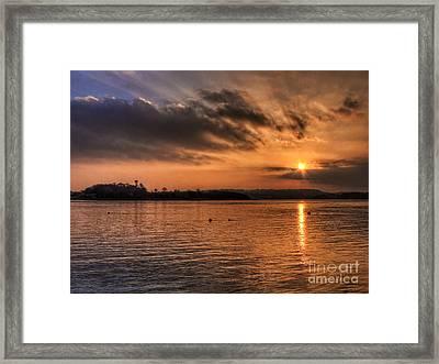 Portaferry Sunset Framed Print by Kim Shatwell-Irishphotographer