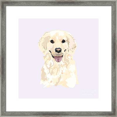 Portait Of A Golden Framed Print