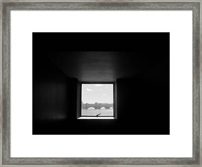 Portal 3 Framed Print by Nancy Ferrier