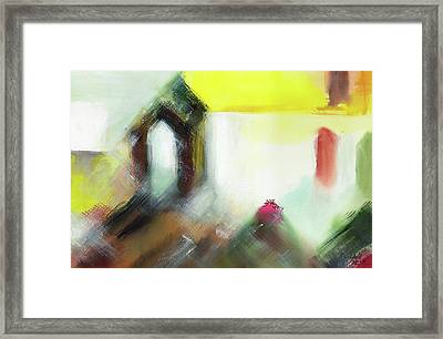 Framed Print featuring the painting Portal by Anil Nene