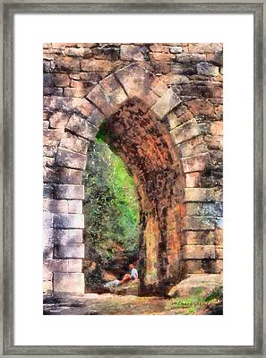 Portal Into Summertime Framed Print