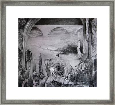 Portal To Bogomils Universe Iv Framed Print by Otto Rapp