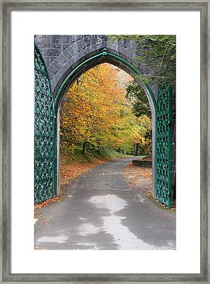 Portal To The Colorful Autumn Season Framed Print