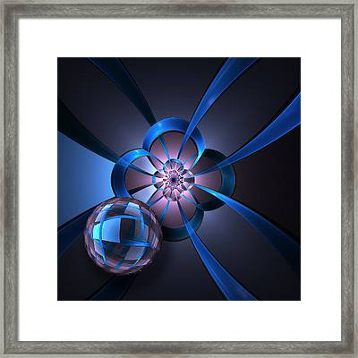 Portal With Blue Glass Ball Framed Print by Pam Blackstone