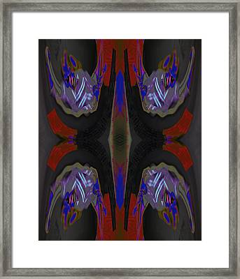 Portal You Leapt Through To Chase My Next - To - Nothingness 2015 Framed Print by James Warren