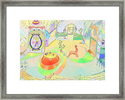 Portals And Perspectives Framed Print