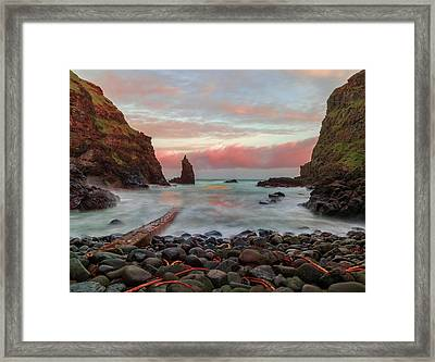 Portcoon Framed Print by Roy McPeak