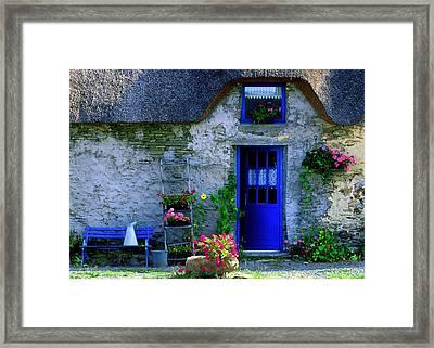 Porte Bleue Framed Print