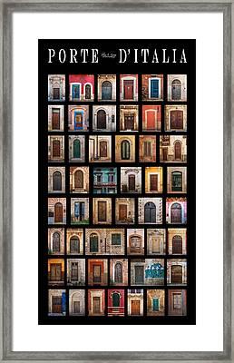 Porte D'italia Framed Print by Elena E Giorgi