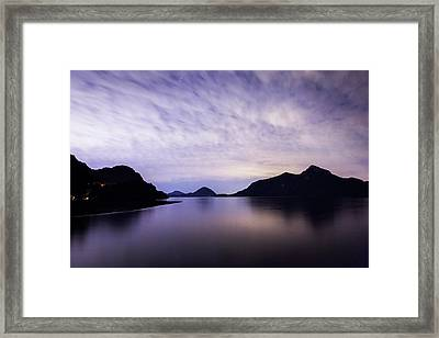 Porteau Cove At Night 1 Framed Print