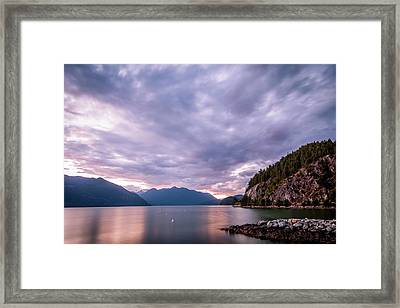 Porteau Cove At Night 2 Framed Print
