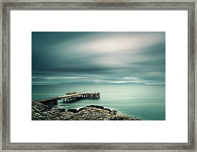 Portencross Pier Framed Print by Ian Good
