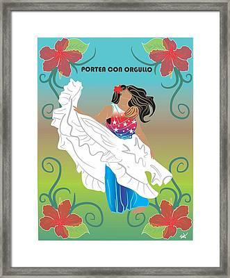 Porteo Puerto Rico Framed Print by Parenthood Art Designs