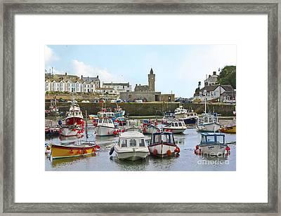 Porthleven Inner Harbour Framed Print