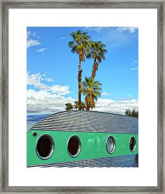 Portholes Palm Springs Framed Print by William Dey