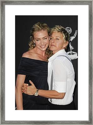 Portia De Rossi, Ellen Degeneres Framed Print by Everett