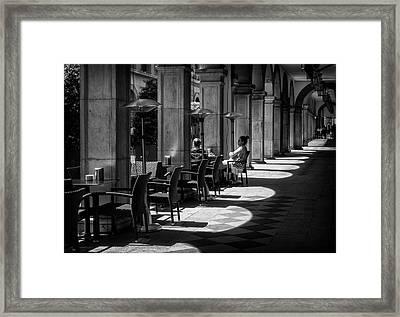 Portico Conversation Framed Print