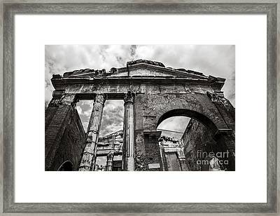 Porticus Octaviae In Rome Framed Print by Diane Diederich