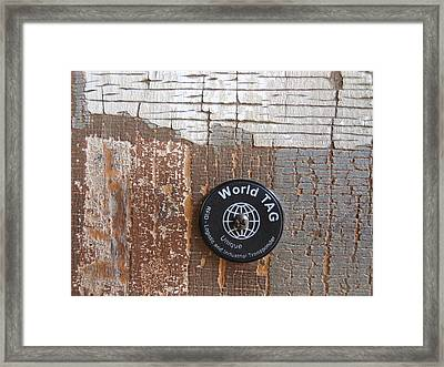 Portion Of A Fence  Framed Print by Linda Geiger
