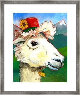 Portland Alpaca Framed Print