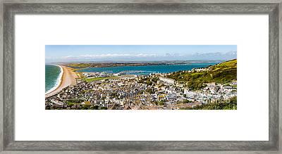 Portland And Chesil Beach Framed Print