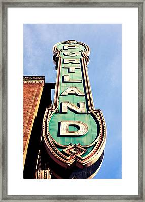 Portland Framed Print by Cathie Tyler