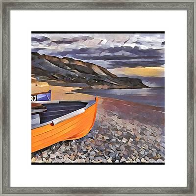 Portland Chesil Beach Framed Print