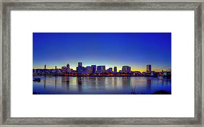 Portland Cityscape Framed Print