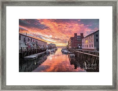 Portland Harbor Sunrise Framed Print