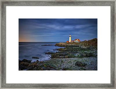 Portland Head Aglow Framed Print by Rick Berk