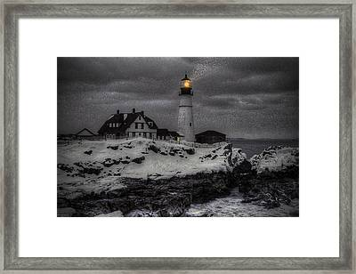 Portland Head Evening Framed Print