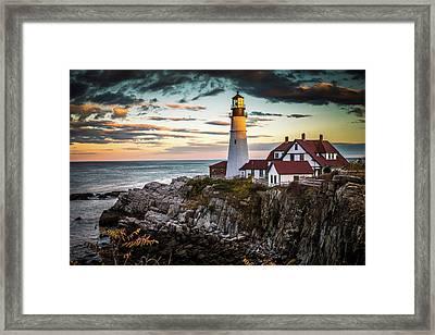 Portland Head Light 2 Framed Print by Tom Weisbrook