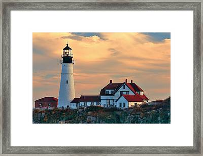 Portland Head Light-cape Elizabeth, Maine Framed Print