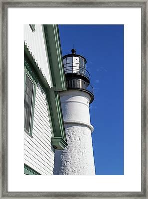 Portland Head Light Detail Framed Print