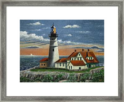 Portland Head Light Framed Print by Gordon Beck