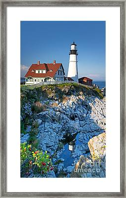 Portland Head Light Framed Print by Jane Rix