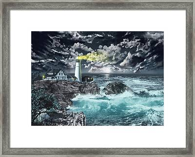 Portland Head Light Framed Print by Bekim Art