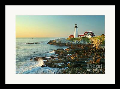 Rocky Maine Coast Framed Prints