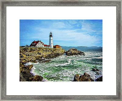 Portland Head Light - Oldest Lighthouse In Maine Framed Print