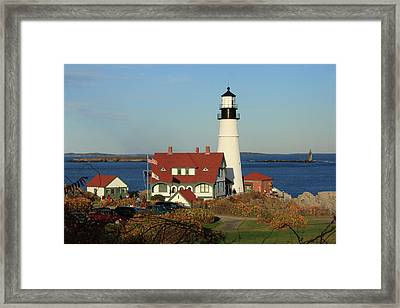 Portland Head Lighthouse 2 Framed Print by Lou Ford
