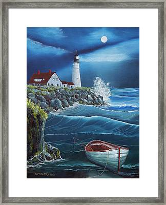 Portland Head Lighthouse Framed Print by Jerry McElroy