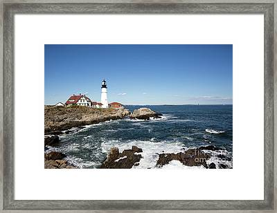 Portland Head Lighthouse Maine Framed Print
